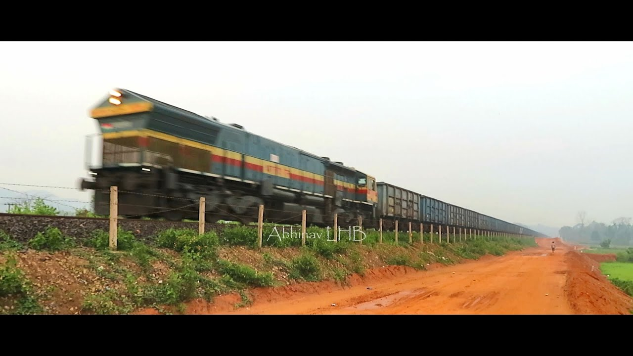 The Coal Train - Izzatnagar (IZN) WDG4 towing BOXN-HL Freight Train    इज्ज़तनगर EMD    Abhinav LHB