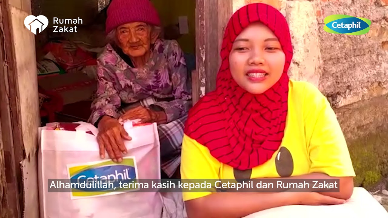 JELANG IDUL FITRI CETAPHIL INDONESIA GANDENG RUMAH ZAKAT BERIKAN BANTUAN JANDA BERDAYA