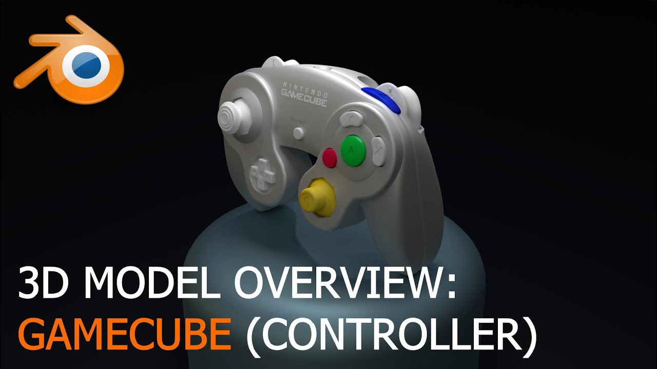 Gamecube Controller - 3D Model Overview