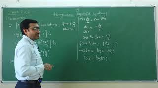 II PUC   Mathematics   Differential Equations - 09