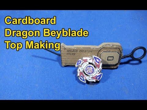 Desi Dragoon Beyblade Top Making Idea | How to make Cardboard Dragoon Beyblade top