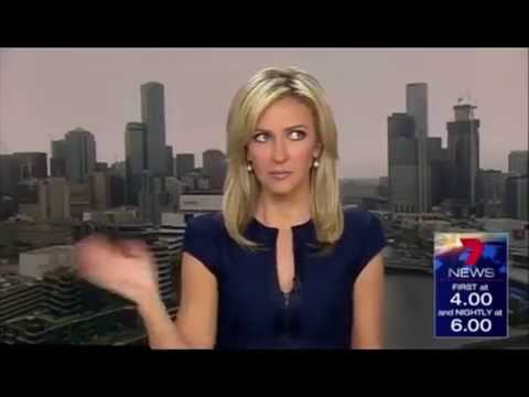 Anchorwoman farts on live TV News Broadcast