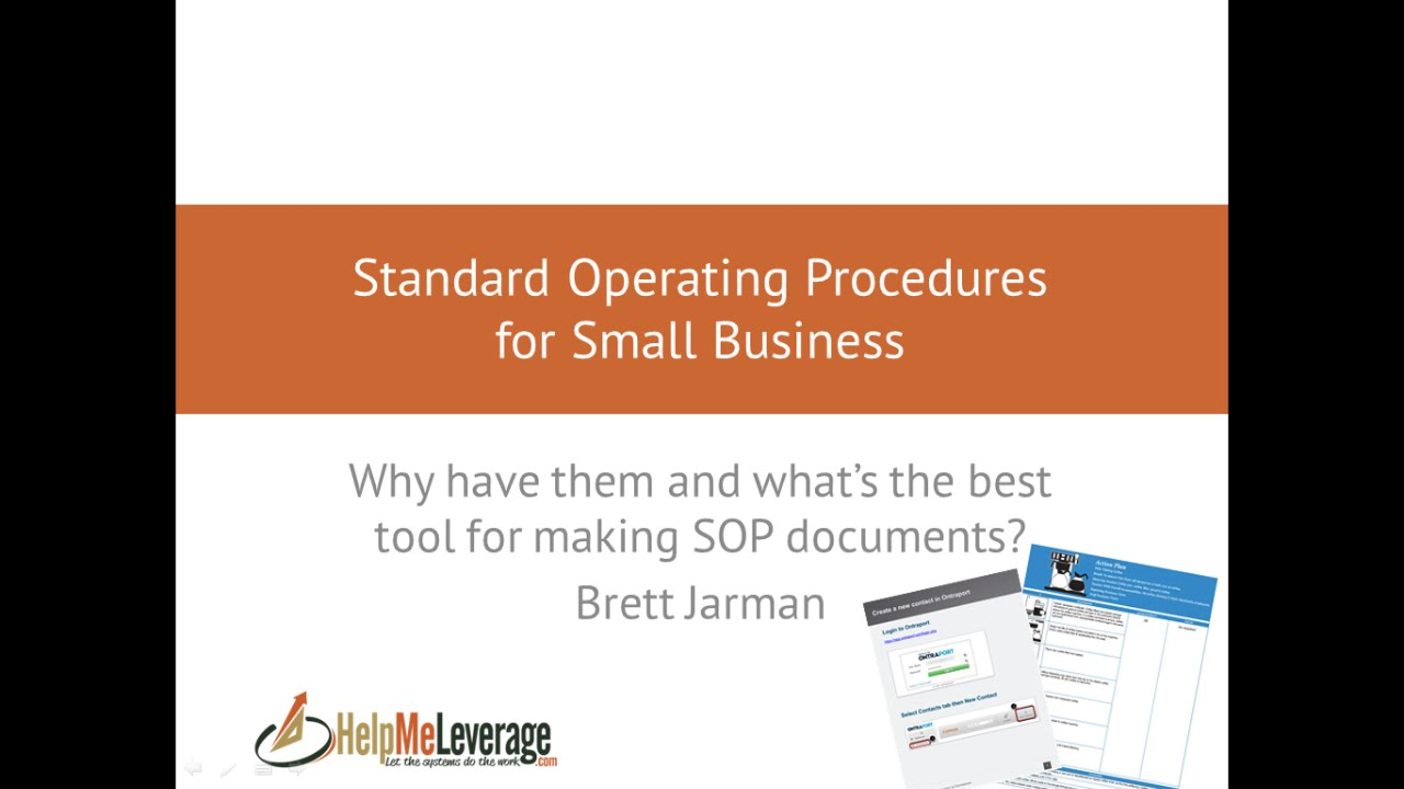 Standard Operating Procedures For Small Business Why You Need Them