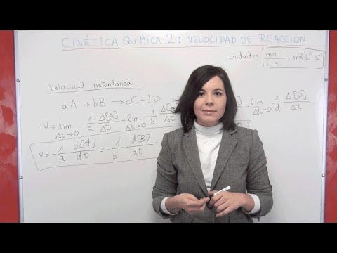 Cinética Química Teoría 2: Velocidad de reacción