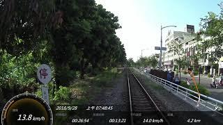 台鐵 高雄機廠員工通勤列車 高雄車站-前鎮車場 SONY FDR-X3000 Action Cam GPS 參數資料 路程景