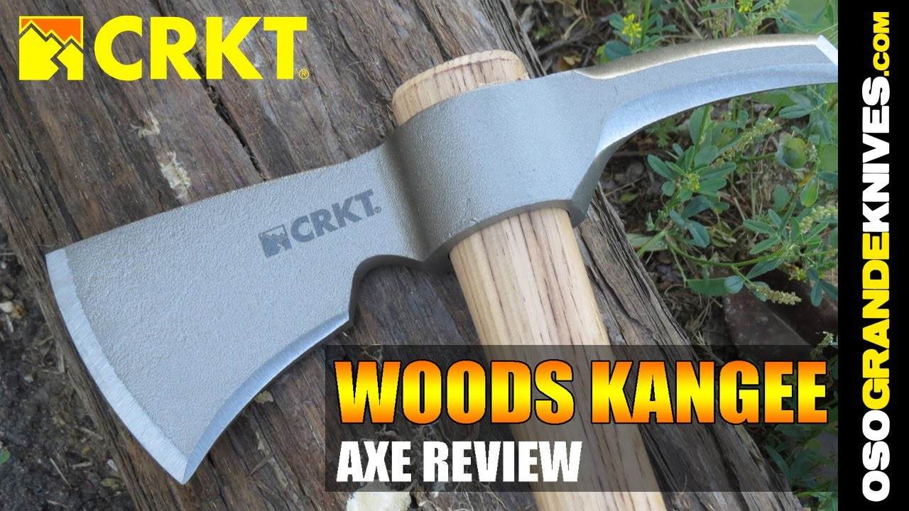 Hammer Back Hickory Handle 2730 NEW CRKT RMJ Woods Chogan T Hawk Axe Head Front