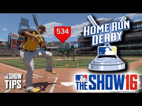 MLB The Show 16  - HR Derby Trout vs. Donaldson - 534 FT HR!!!