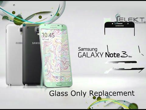 Samsung Galaxy Note 3 Neo (SM-N7505) Glass Only Replacement Full Tutorial / Wymiana szybki   Selekt