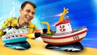 Игры гонки для детей. Фёдор прокачал кораблик Элаяс!