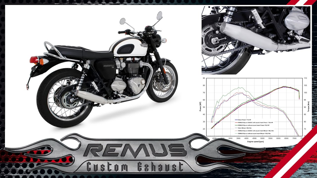Triumph Bonneville T120 Mod 2016 With Remus Slip On System Youtube