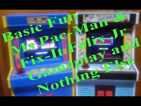 Ms. Pac-Man And Fix-It Felix By Basic Fun Gameplay Only