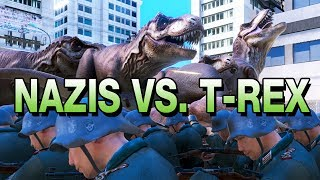 UEBS - Ultimate Epic Battle Simulator Gameplay German - Nazis Vs. T-Rex