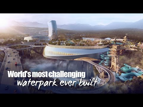 Live: World's most challenging waterpark ever built 这座水上游乐园是