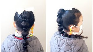Kids Hairstyle | 포니테일 | 여자아이머리…