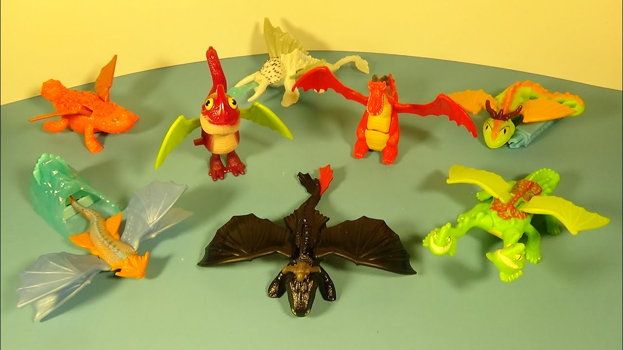 2014 How To Train Your Dragon 2 Set Of 8 Mcdonald S Happy Meal Movie Toy S Video Review Youtube