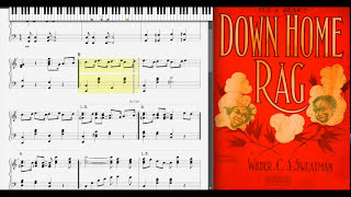 Down Home Rag by Wilbur Sweatman (1911, Ragtime piano)