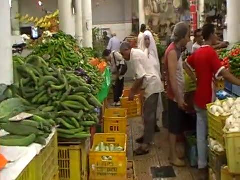 August at Cape Bon. Tunis.El Kram.Market