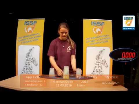 ISSF - Cycle worldrecord, age 12 Finja Hollin 5,924s