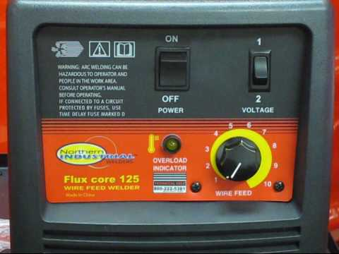 Northern Industrial Tool Flux Core 125 Wire Feed Welder Set-Up