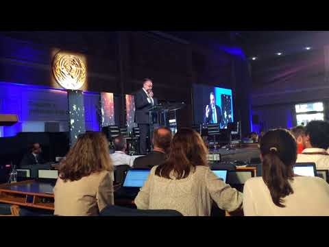 Johannes Vogel announcing the Global Citizen Science Secretariat at the UN