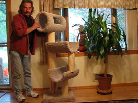 Diy 110 Cat Tree Tower Climber Youtube