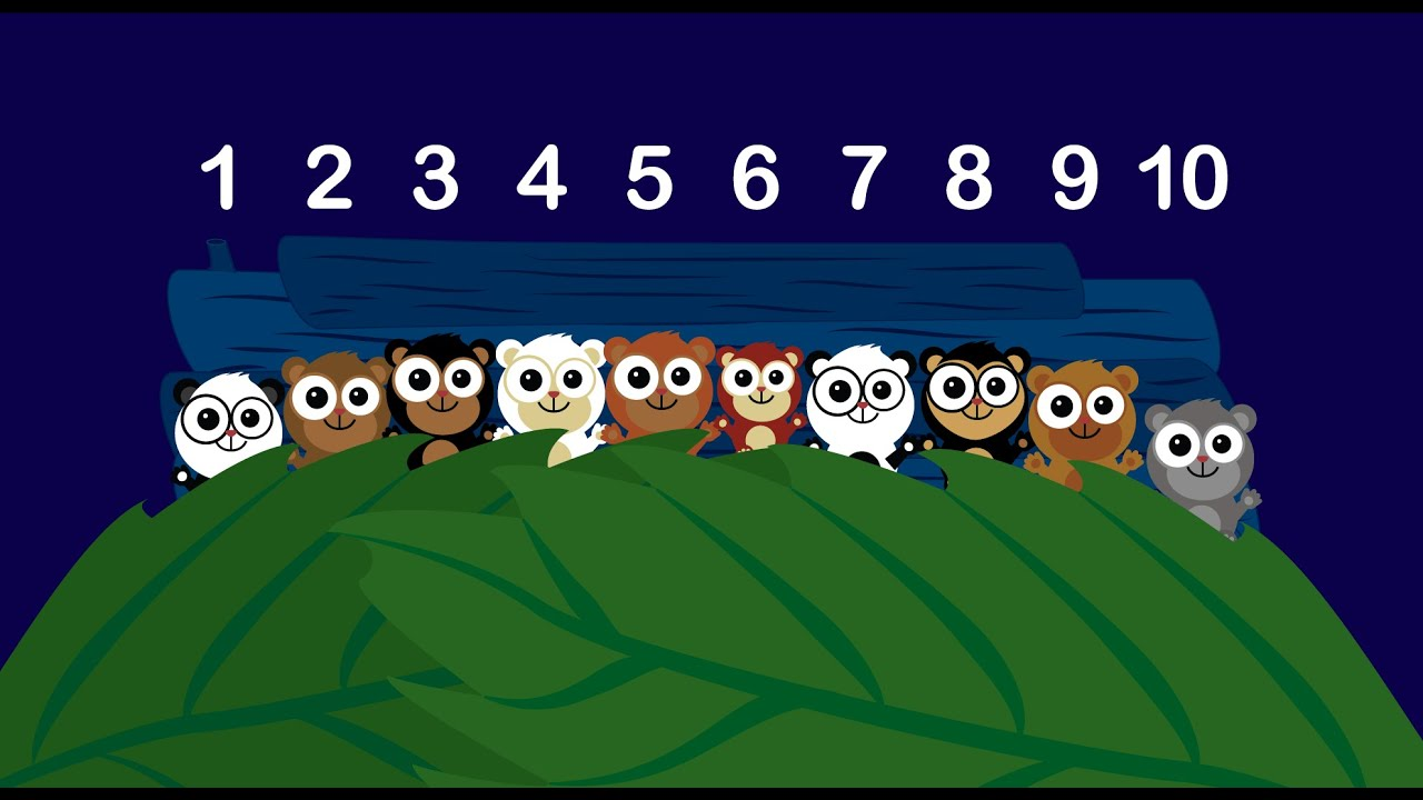Learn to Count - Ten In The Bed Song for Children