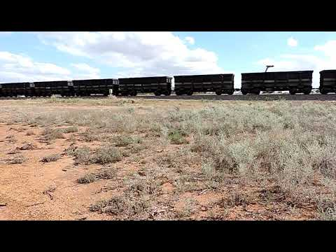 Loaded Karara Mining Iron Ore Train. At TARDUN, Heading To GERALDTON.