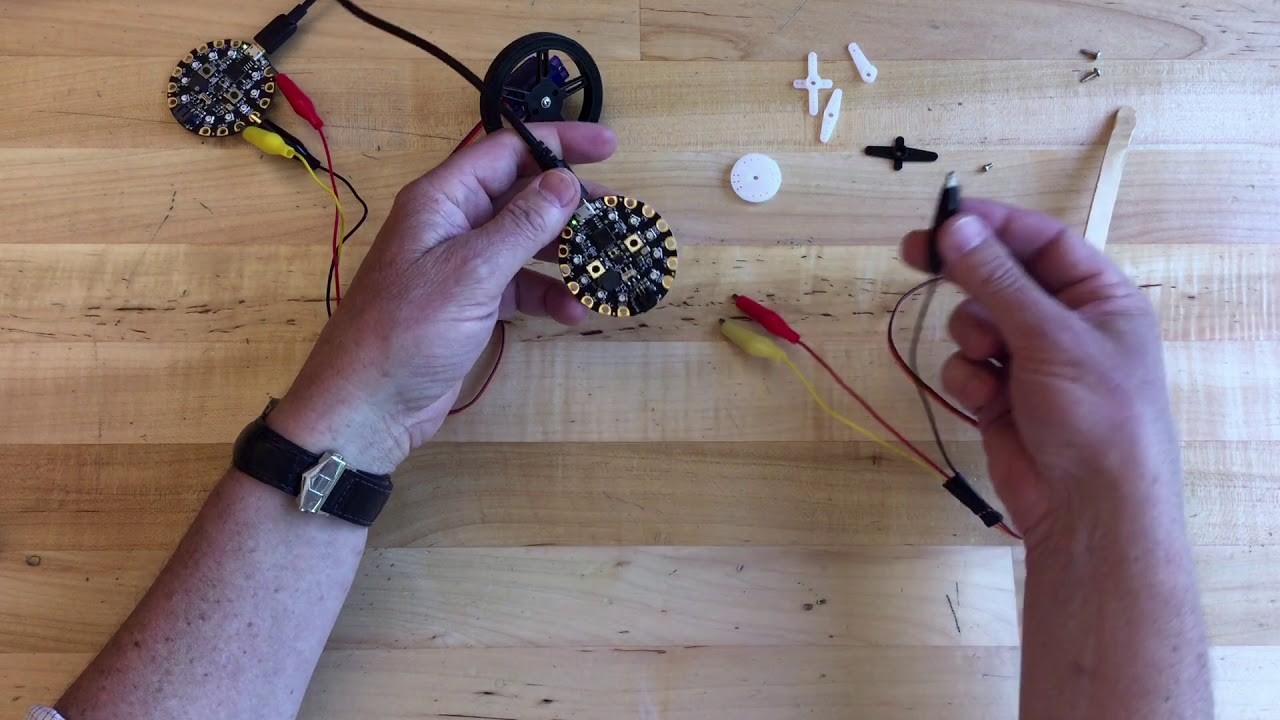 Continuous and 180 Degree Servo Motors with @adafruit