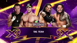 WWE 2K15 gameplay: Tag Team Match John Cena,Dean Ambrose vs The Usos