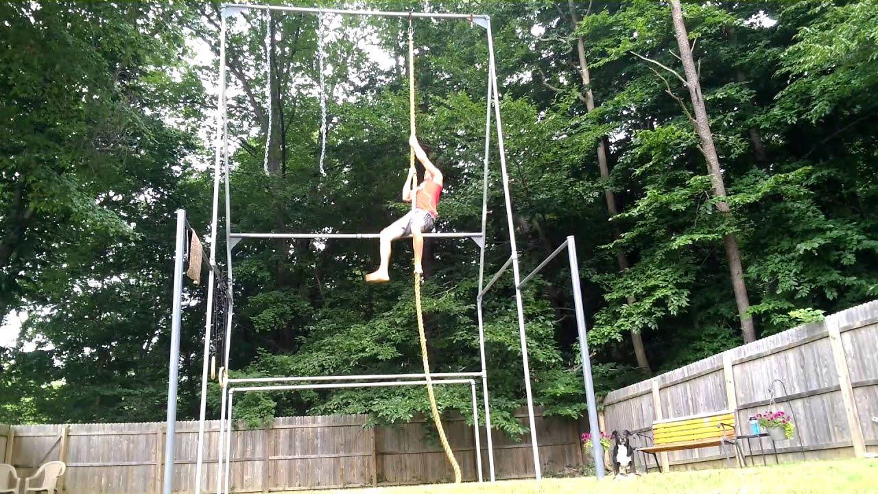 Superbe Legless Rope Climb   World Record/Ninja Training