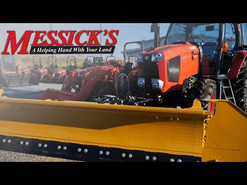 Snow Removal With A Kubota M6-111 & HLA Snow-Wing