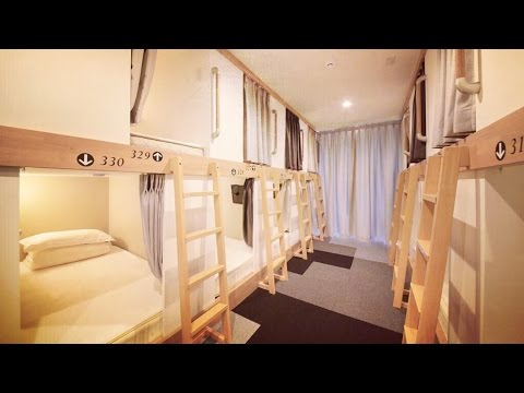 DAY 93 - STAYING IN A CAPSULE HOTEL (TOKYO)