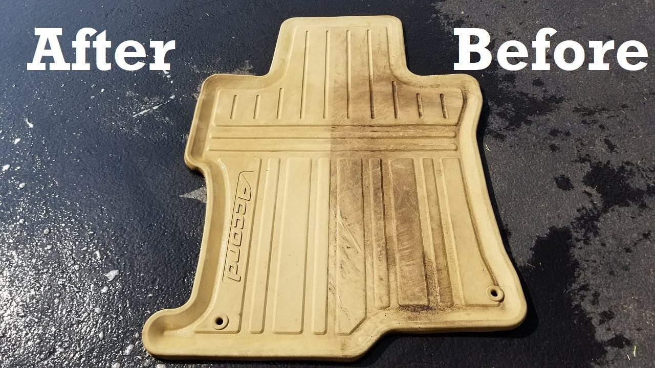 How To Clean Rubber Car Mats Youtube