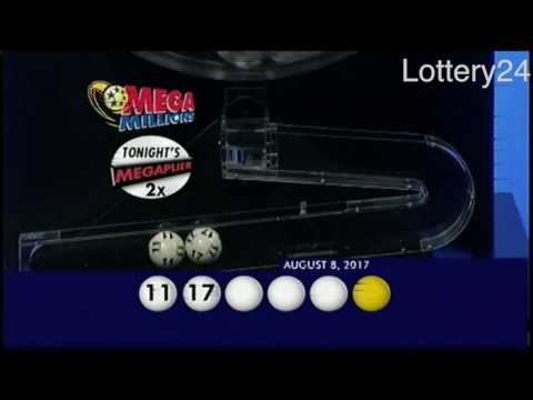 2017 08 08 Mega Millions Numbers and draw results