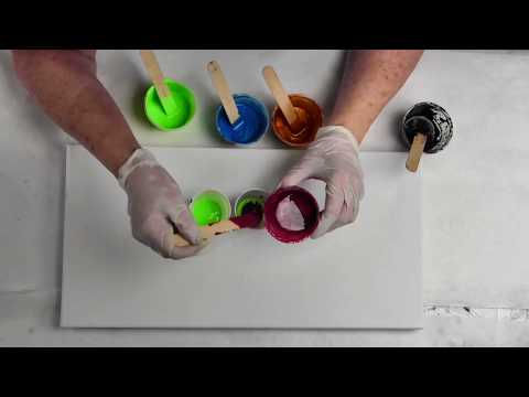 """(14) Primary Elements Dirty Pour """"Fixed"""" Touch up  Pour Silks Acrylic Glaze, Leslie Ohnstad"""