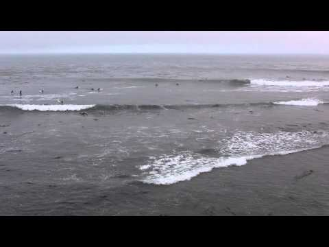 Ambient Video: Surfers at Santa Cruz, California