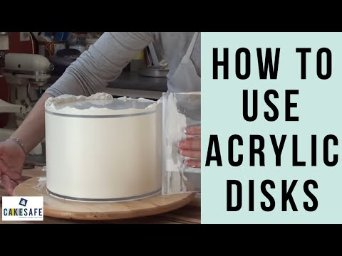 how to use cakesafe 39 s acrylic disks for smooth buttercream