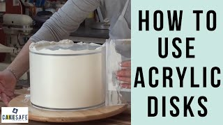 How To Use CakeSafe's Acrylic Disks for Smooth Buttercream or Ganache