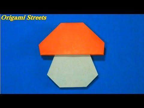 Оригами гриб цель