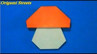 Как сделать гриб из бумаги. Оригами гриб из бумаги.