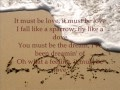 watch he video of Don Williams-It must be love(lyrics)