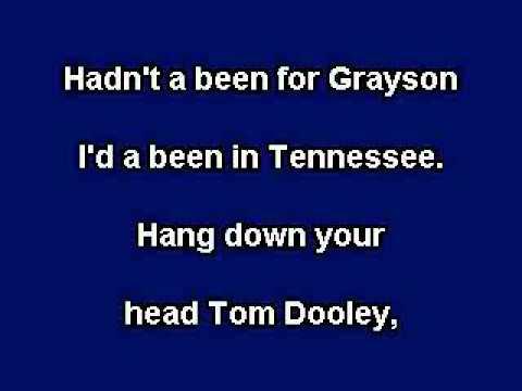 Tom Dooley, Karaoke video with lyrics, Instrumental version