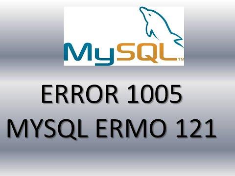 Como Quitar mysql error code 1005 errno 121