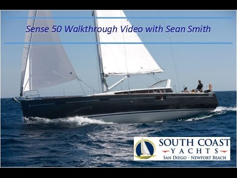 2017 Beneteau Sense 50 in San Diego For Sale Walk Through and Motoring Video