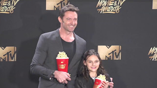 Hugh Jackman and Dafne Keen 2017 MTV Movie and TV Awards