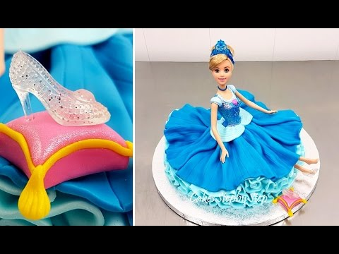 How to Make a Disney Princess Cinderella Doll Cake by Cakes StepbyStep