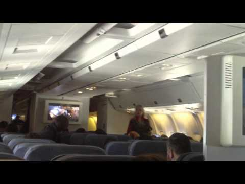 Flying over U.K. on Aeromexico Flight AM7, Boeing 767-200ER