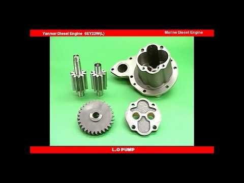 Yanmar Diesel engine repair and maintenance 25.L.O PUMP