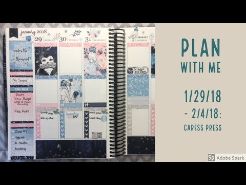 Plan with Me: Simple White Space Spread! 1/29/18-2/4/18