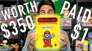 How I got a $350 comic for $1 - Nintendo Comics System Sneak Preview